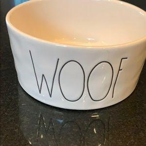 Rae Dunn ceramic woof dog bowl